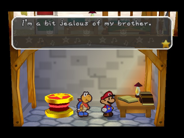 Paper Mario - Luigi is jealous to his brother - User Screenshot